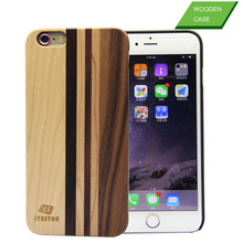 Unique design wood pc back cover case for iphone 6s , wood mixed mobile case , wholesale wood mobile phone case for iphone 6