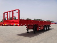 2016 China hot sale 3 axle flatbed side wall semi truck trailer and 6x4 Sinotruk tractor truck