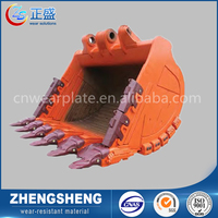 China supplier excavator bucket for construction machinery used on steel industry