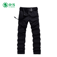 OEM Acceptable Durable Plus Size Six Pocket Black Cargo Pants for Men