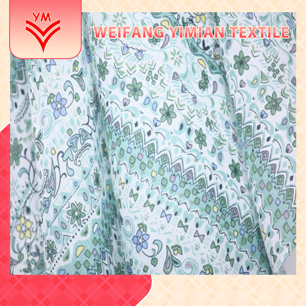 For Overseas Market Army Flower Printed Fabric