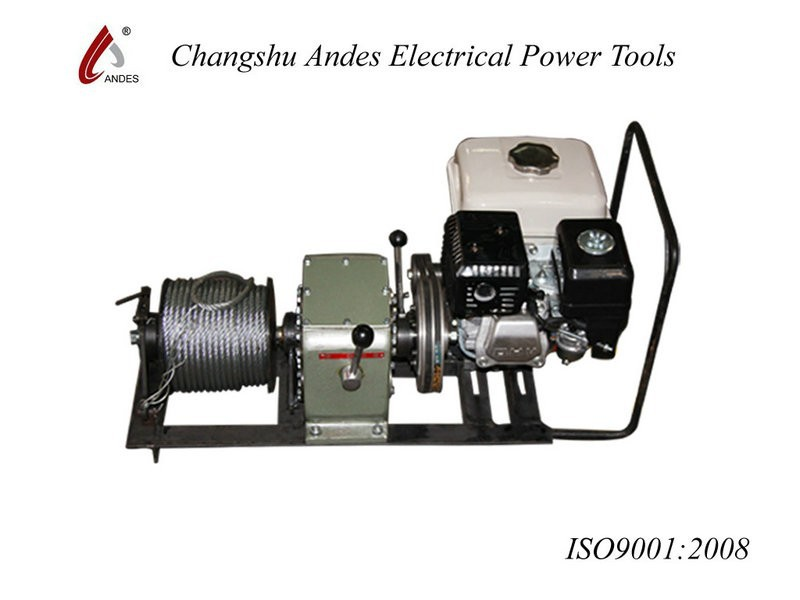 wholesale 3T powered gasoline or diesel engine belt driven hoist winch