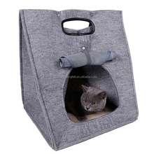 High quality cheap price soft folding pet carriers felt cat house