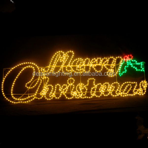 led merry christmas silhouette