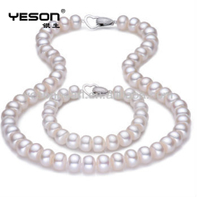 fashion 10-11mm AAA white freshwater pearl jewelry set, freshwater pearl jewelry set for gifts