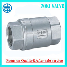 "Female Thread check valve 1/2""-3"" 800psi stainless steeel double localization,soft seat available."