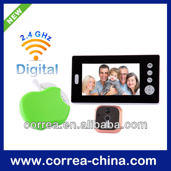 7 inch Wireless Peephole Video Door Phone