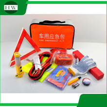 First aid 12 pieces mini all purpose car emergency kit repair tools Auto Safety Kit with car vacuum cleaner Auto Emergency Tool