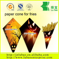 high-level paper container or cone for fish and chips china supplier