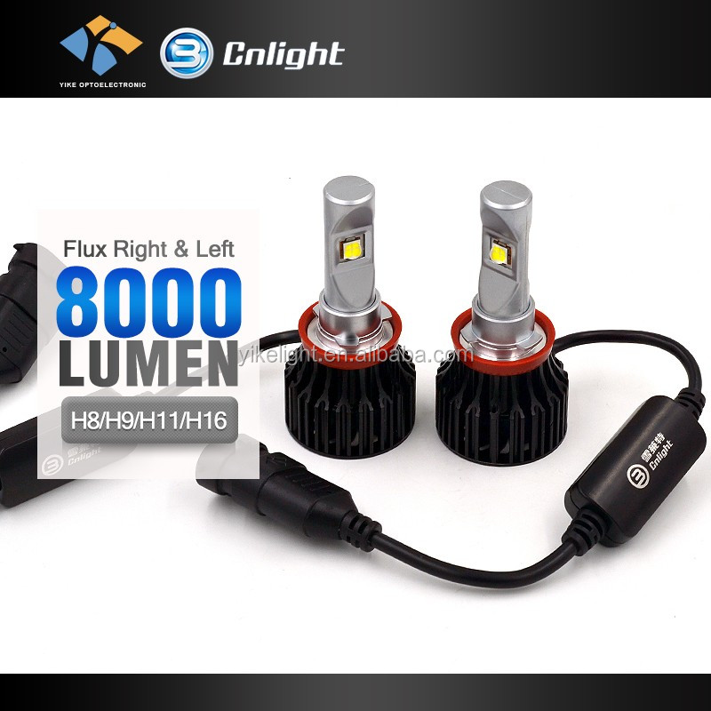 Cnlight Yike Real Factory German Quality 4000 lumen headlight H16 led headlight replace bi xenon hid kit