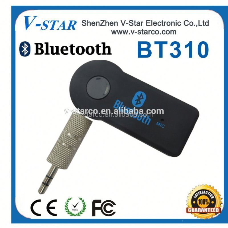 3.5mm Bluetooth Receiver for Car Audio is In-vehicle Wireless Handsfree System With Microphone