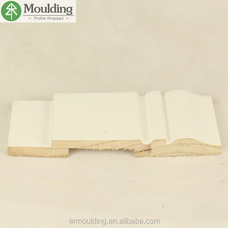 white primed molding wood waterproof baseboard