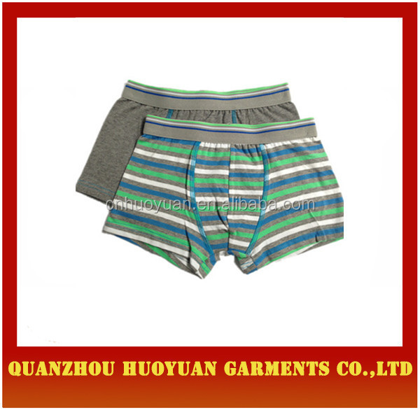 Factory price boy cotton boxer kids underwear size chart