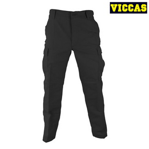 High Quality Black Work Pants With Side Pockets