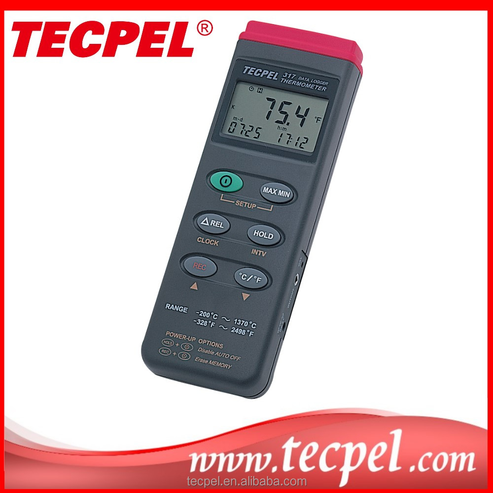 DTM-317 Digital temperature meter data logger USB Single channel Type K thermocouple thermometer