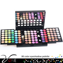 96 color eyeshadow palette +brush +mirror made perfect makeup wholesale
