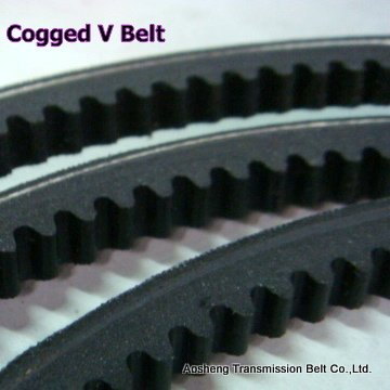 Rubber Raw edge cogged v belt for car