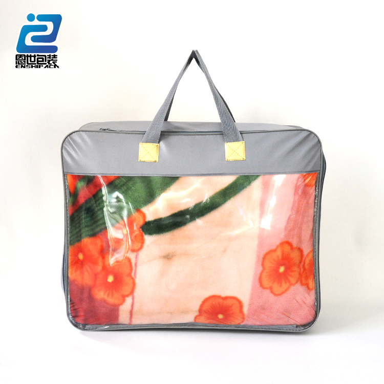 China manufacture B2B pvc blanket bag with zipper