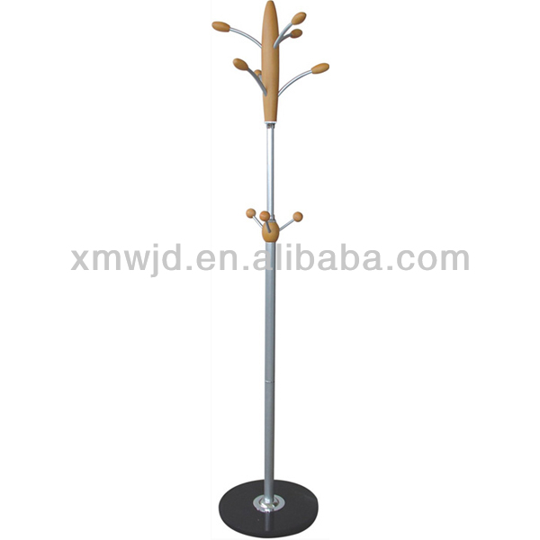 popular double wooden metal coat stand
