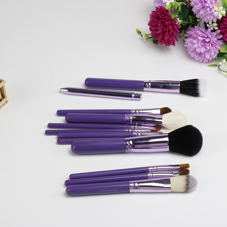 Empty Portable Makeup Brush Round Pen Holder Cosmetic Tool PU Leather Cup Container Solid Case