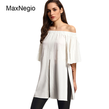 MaxNegio New Arrival 2018 Ladies Off Shoulder Blouse Women Plus Size Clothing Ladies Top Guangzhou Manufacturer