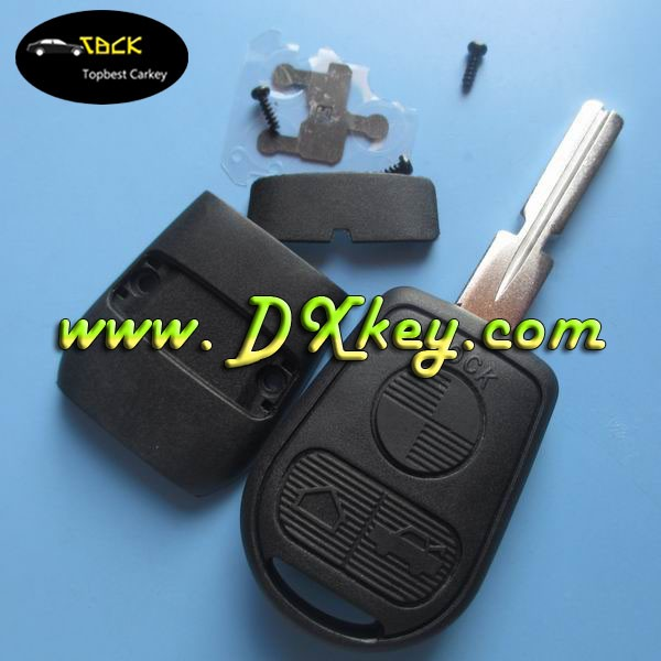 Hot sale 3 buttons remote car key blanks with HU58 blade for bmw key bmw key holder