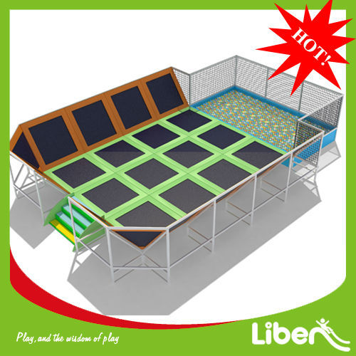 Liben Funny Rectangle Trampoline with Enclosure for sale