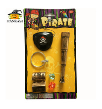 Pirate eye patch +earrings+chest+diamond+telescope toy