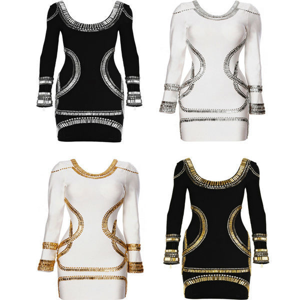 Seller factory walson Instyles women Wholesale Long Sleeve Bandage Dress