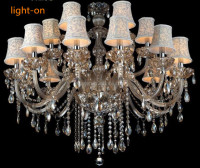 Customized Modern Luxury Hotel Lighting Chrome Crystal Chandeliers