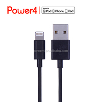 Black phone charger data transfer cable 8pin connector USB cable for ipad iphone