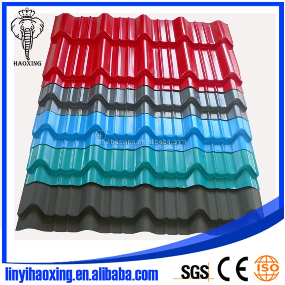 Colorful metal asphalt shingles for Nigeria/Chile/Kenya/Guyana Villa Roof