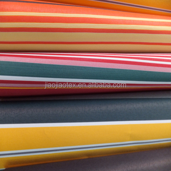Waterproof 100% polyester stripe printed awning fabric for outdoor awning