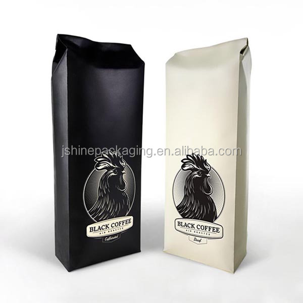 2016 high quality zipper lined foil coffee bag aluminum