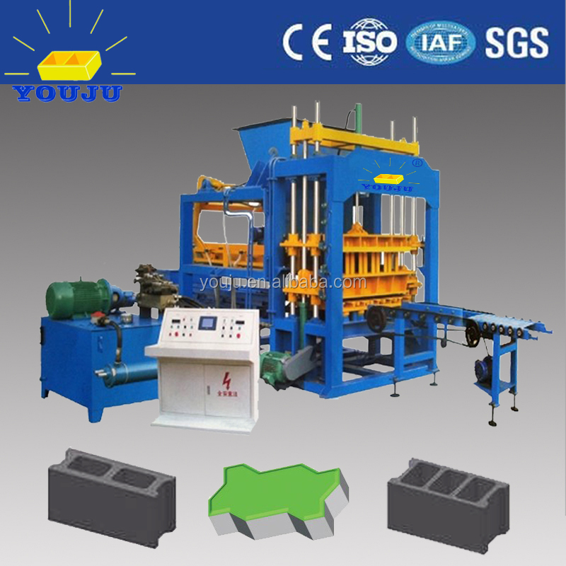 QT5-15 hollow used brick making machine for sale cheap block brick machinery