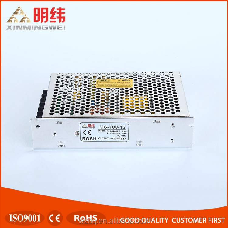 MS-100-12 Mini size 12v 100w led driver constant voltage power supply,single output switching power supply 12V