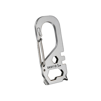 High quality stainless steel EDC carabiner multi tool