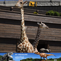 My Dino-animated animal amusement park equipment giraffe model