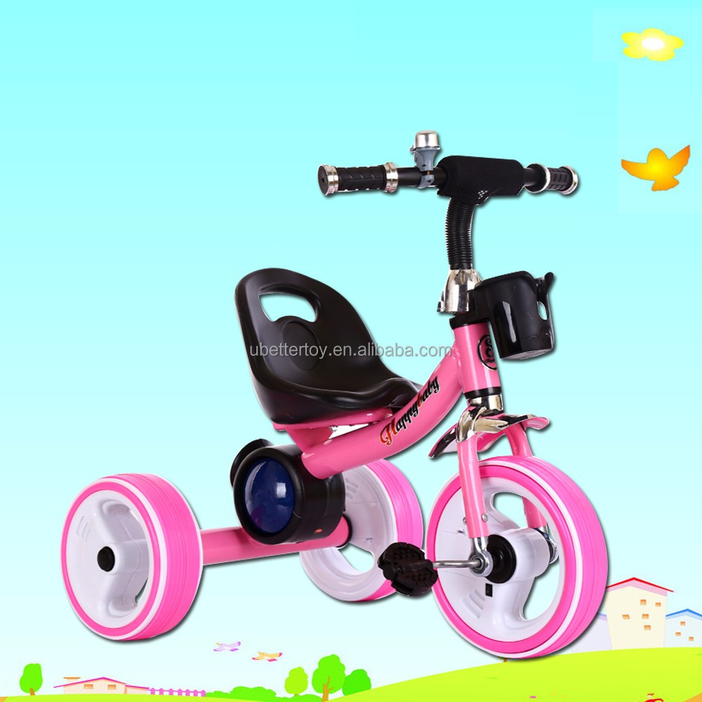 2016 manufacture hot selling kid's ticycle with music/three wheels bike