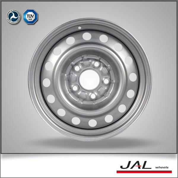 2017 hot sale 6jx15'' pcd 5/114.3 car steel silver wheels rim