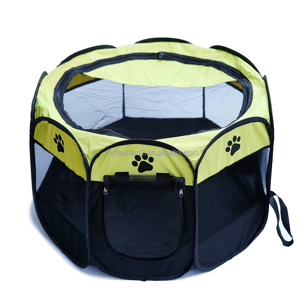Pet Dog Tent Puppy Playpen Exercise Kennel 600d Oxford Cloth Foldable Portable Play Pen Bed Dog Cage