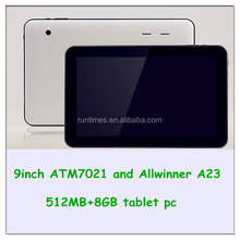 Free Shipping 9 Inch 8Gb Touch Panel 4000mah Battery 3.7v Tablet