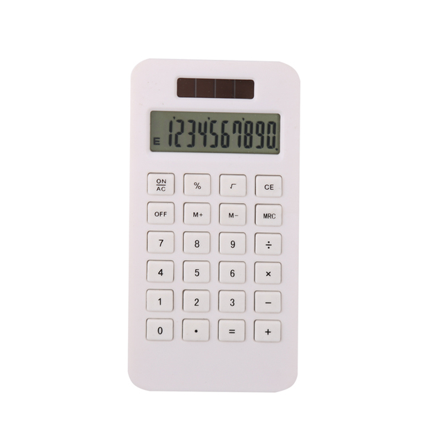 ECO-Friendly PLA Material Solar Power Calculator with 8 Digit