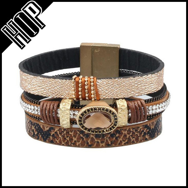 HIgh quality pave crystal plastic ethnic bangle for women