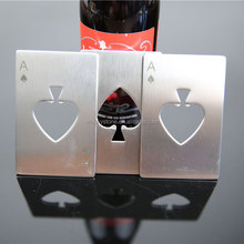 Credit Card Wallet Size Beer Bottle Cap Opener , Poker Playing Card Ace of Spades Beer Bottle Cap Opener