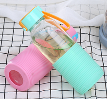 Whosale Cheap Price Promotion Amazon Glass Water Bottle With Silicone Sleeve