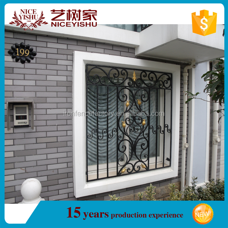 Window grill models interior security window grill wrought for Window design new model