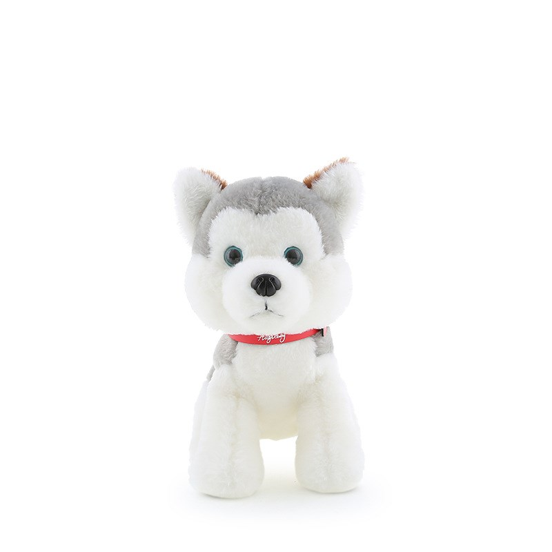 Custom Soft Stuffed Dog Animal Dolls Toys Plush Siberian Husky Puppies