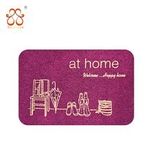 Decorative entrance anti-slip screen printing door mat with TPR backing