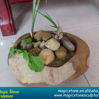 Garden Decoration Cobblestone Cheap Wholesale Vase
